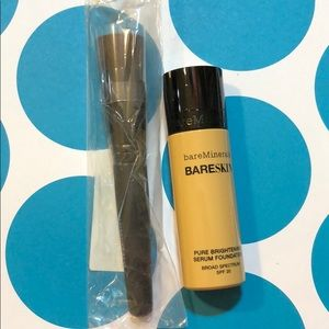 Bare minerals serum foundation & brush